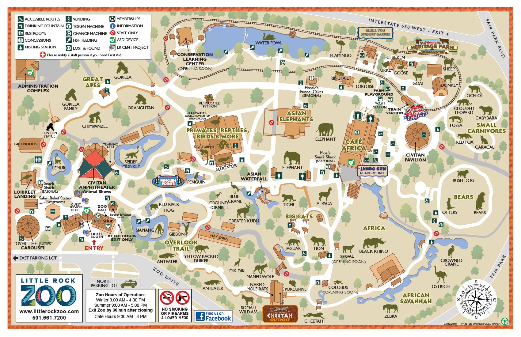Zoo Map   Little Rock Zoo